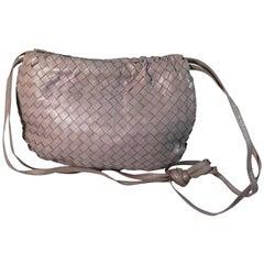 Bottega Veneta Lavender Classic Woven Handbang W/ Strap
