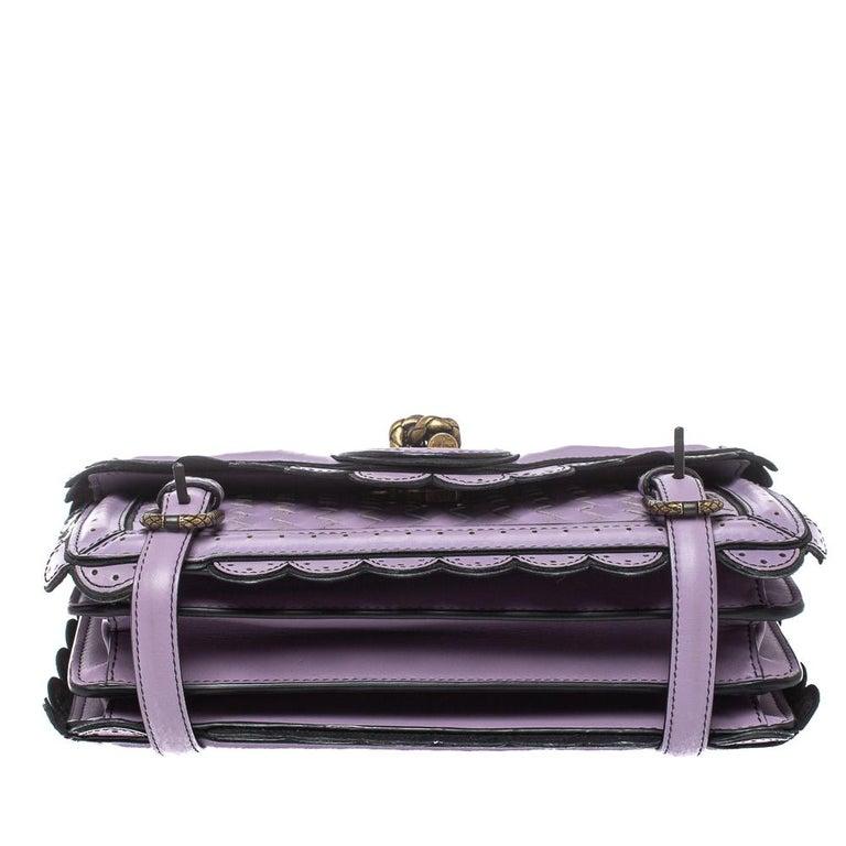 Women's Bottega Veneta Lavender Intreccaito Leather Wingtip City Knot Shoulder Bag For Sale