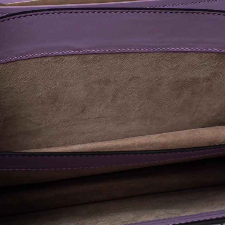 Bottega Veneta Lavender Intreccaito Leather Wingtip City Knot Shoulder Bag For Sale 4