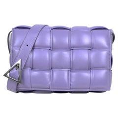 Bottega Veneta Lavender Maxi Intrecciato Leather Padded Cassette Crossbody Bag