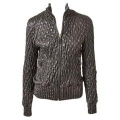Bottega Veneta Leather Quilted Bomber Jacket