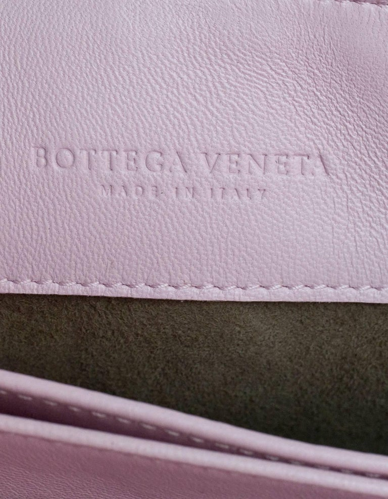 Bottega Veneta Light Pink Dragee Intrecciato Woven Leather Baby Olimpia Bag  For Sale 4