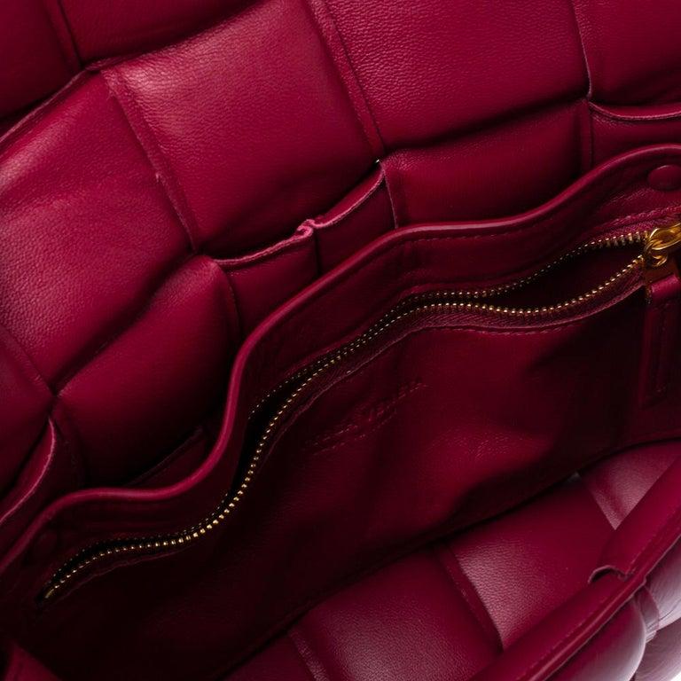 Bottega Veneta Magenta Padded Leather Cassette Crossbody Bag For Sale 1
