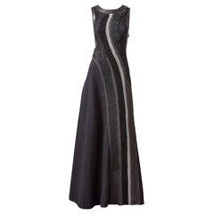 Bottega Veneta Matelasse Gown with Leather Detail