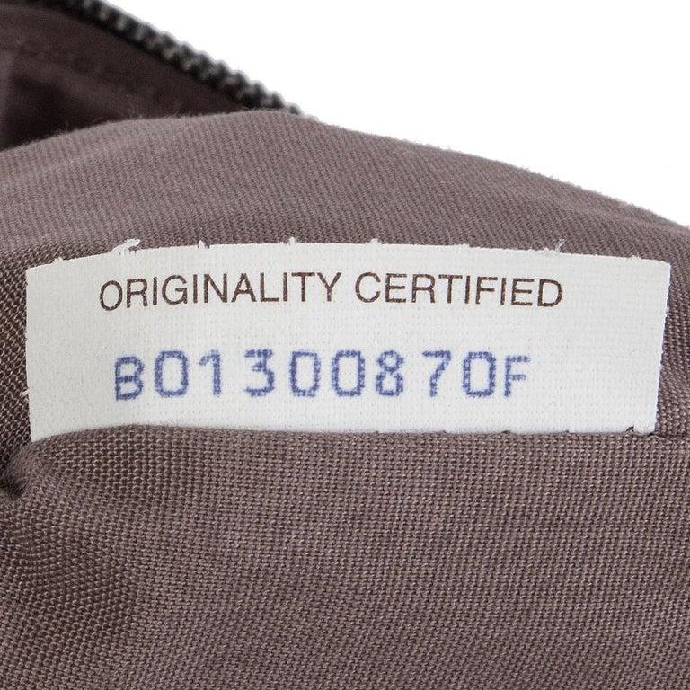 Women's BOTTEGA VENETA metallic grey INTRECCIATO Zip Pouch Clutch Bag For Sale