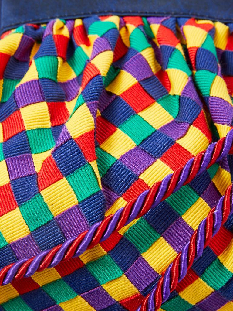 Women's Bottega Veneta Multitone Gross Grain Ribbon Purse For Sale