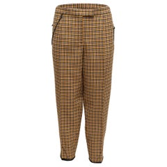 Bottega Veneta Mustard & Multicolor Wool Plaid Trousers