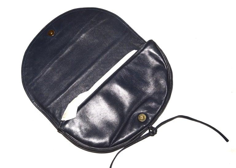 Black Bottega Veneta Navy Clutch  For Sale