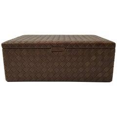 Bottega Veneta Nero Intrecciato LeatherJewelry Box