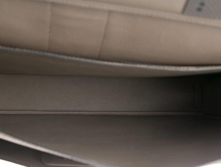 Bottega Veneta NEW Tan Suede Crocodile Men's Women's Business Briefcase Bag In New Condition In Chicago, IL