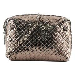 Bottega Veneta Nodini Crossbody Bag Intrecciato Patent Vinyl with Snakesk