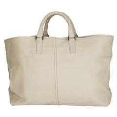 BOTTEGA VENETA off-white leather Tote Bag