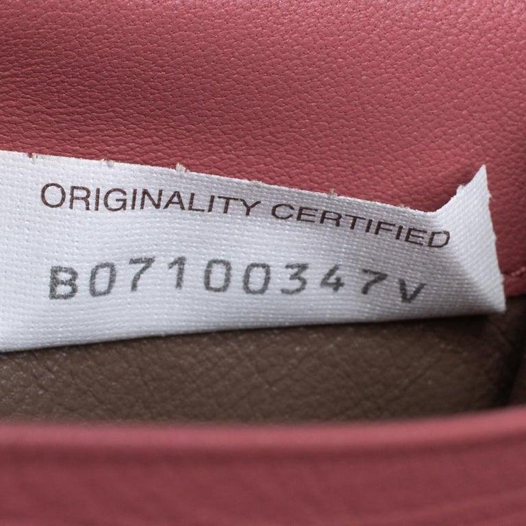 Bottega Veneta Old Rose Intrecciato Leather Continental Flap Wallet For Sale 3