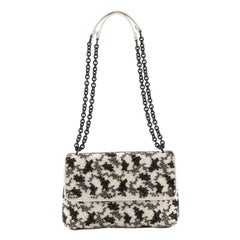 Bottega Veneta Olimpia Crossbody Bag Embroidered Intrecciato Nappa Small