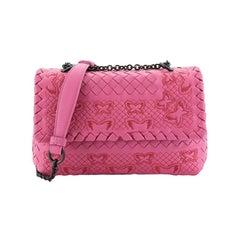 Bottega Veneta Olimpia Crossbody Bag Stitched Intrecciato Nappa Baby