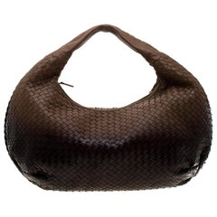 Bottega Veneta Ombre Intrecciato Leather Large Veneta Hobo