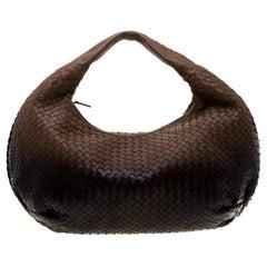 Bottega Veneta Ombre Intrecciato Leather Large Veneta Hobo
