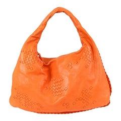 BOTTEGA VENETA orange INTRECCIATO VENETA LARGE Hobo Shoulder Bag