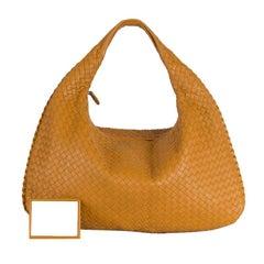 BOTTEGA VENETA orange INTRECCIATO VENETA MEDIUM Hobo Shoulder Bag