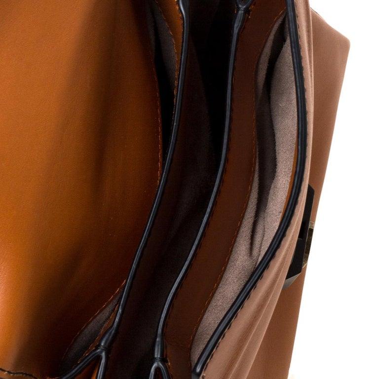 Bottega Veneta Orange Leather Mini Piazza Top Handle Bag For Sale 5