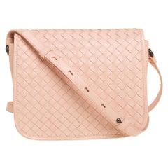 Bottega Veneta Peach Intrecciato Leather Crossbody Bag