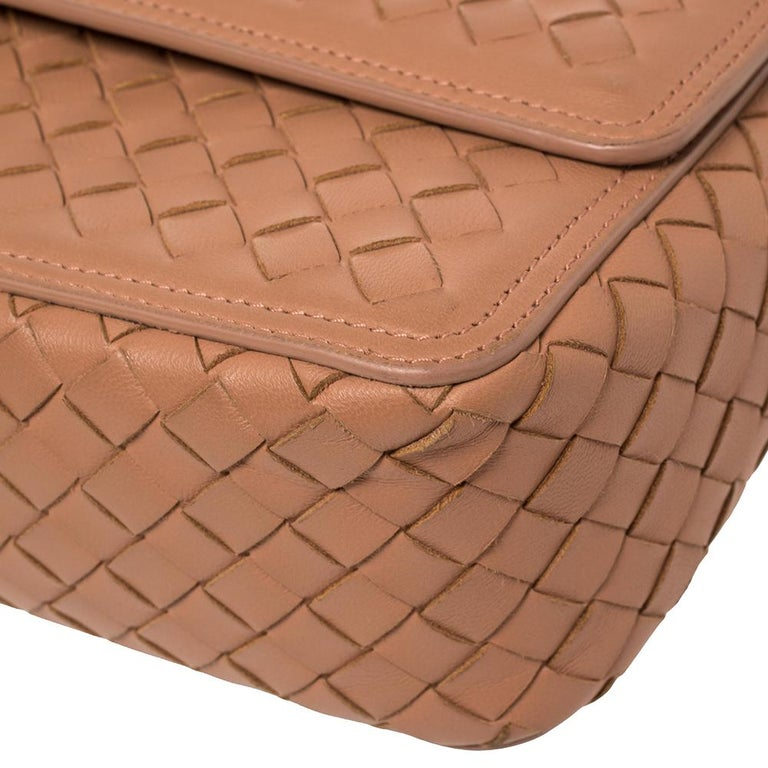 Bottega Veneta Pink Intrecciato Leather Alumna Top Handle Bag 5