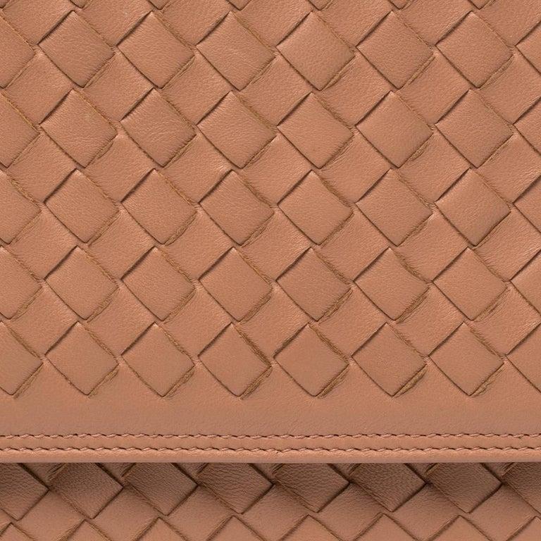 Bottega Veneta Pink Intrecciato Leather Alumna Top Handle Bag 6