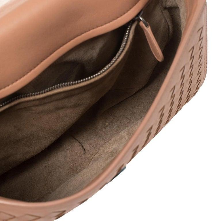Bottega Veneta Pink Intrecciato Leather Alumna Top Handle Bag 1