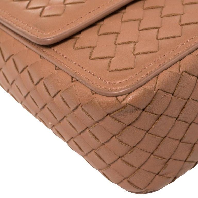 Bottega Veneta Pink Intrecciato Leather Alumna Top Handle Bag 4