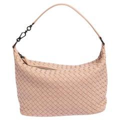Bottega Veneta Pink Intrecciato Leather Small Shoulder Bag