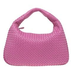 Bottega Veneta Pink Leather Small Intrecciato Hobo