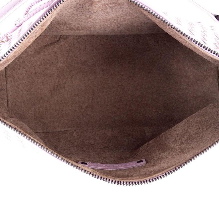 Women's BOTTEGA VENETA pink woven leather INTRECCIATO SMALL HOBO Shoulder Bag For Sale