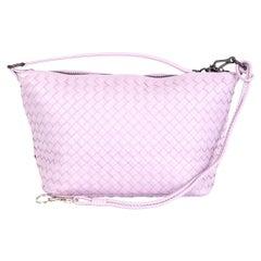 BOTTEGA VENETA pink woven leather INTRECCIATO SMALL HOBO Shoulder Bag