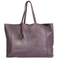 BOTTEGA VENETA plum purple INTRECCIOMIRAGE PAPILLON TOTE Bag