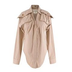 Bottega Veneta Pre Spring Stretch Cotton Safari Shirt