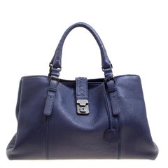 Bottega Veneta Purple Cervo Leather Roma Tote