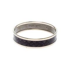 Bottega Veneta Purple Enamel Gold Tone Bangle Bracelet M