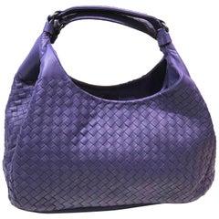 Bottega Veneta Purple Intrecciato Leather Hobo Bag