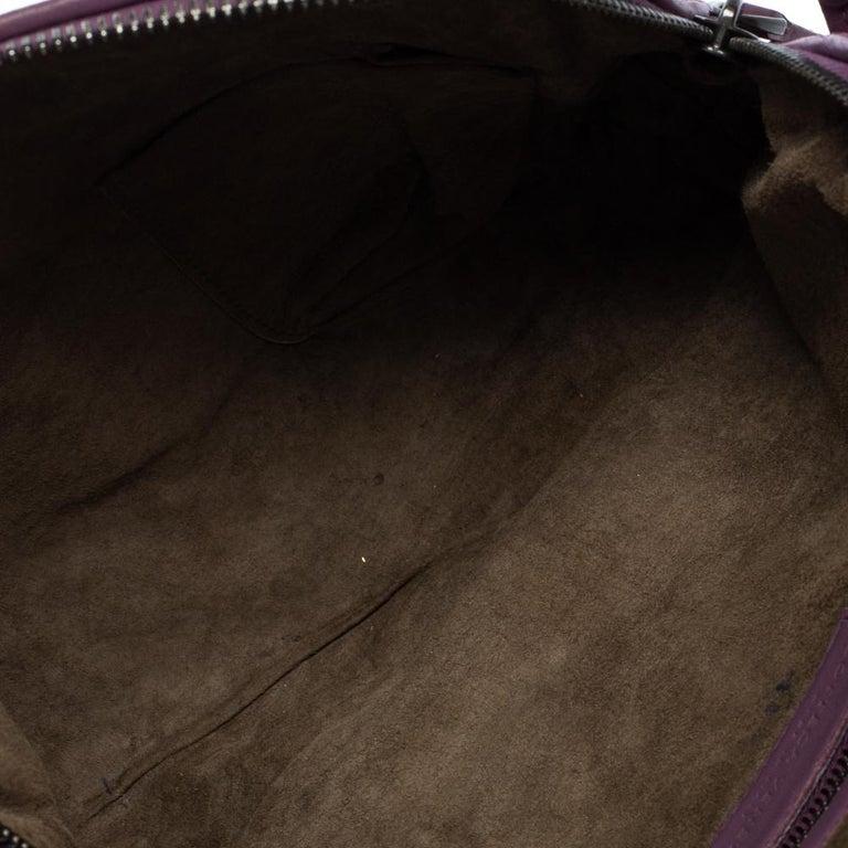 Bottega Veneta Purple Intrecciato Leather Nodini Crossbody Bag For Sale 5