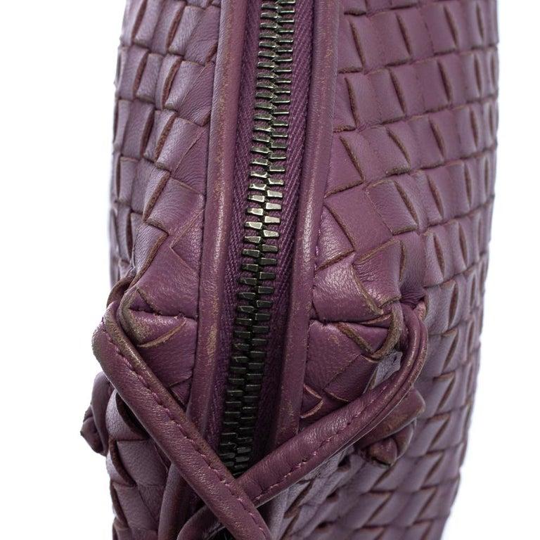 Bottega Veneta Purple Intrecciato Leather Nodini Crossbody Bag For Sale 2