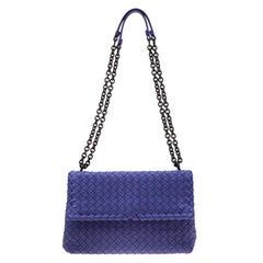 Bottega Veneta Purple Intrecciato Leather Olimpia Shoulder Bag