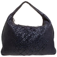 Bottega Veneta Purple Intrecciato Nappa Leather Large Veneta Hobo