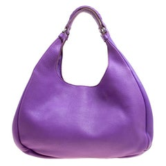 Bottega Veneta Purple Leather Hobo