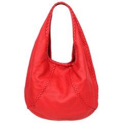 BOTTEGA VENETA red leather CERVO Hobo Shoulder Bag