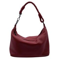 Bottega Veneta Red Leather Hobo Shoulder Bag Tote