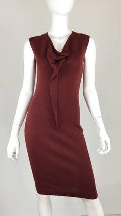 Bottega Veneta Rust Knit Dress