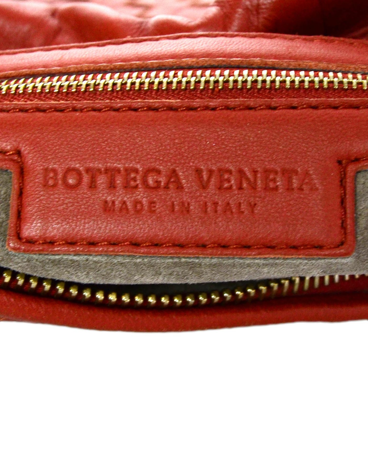 9c44400eb5 Bottega Veneta Rust Red Woven Leather Nappa Intrecciato Medium Veneta Hobo  Bag For Sale at 1stdibs