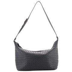 Bottega Veneta Saddle Zip Shoulder Bag Intrecciato Nappa Large
