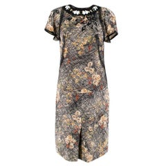 Bottega Veneta Silk Printed Embellished Skirt & Top SIZE 38 IT