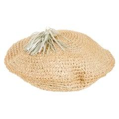 Bottega Veneta Straw Beret Hat